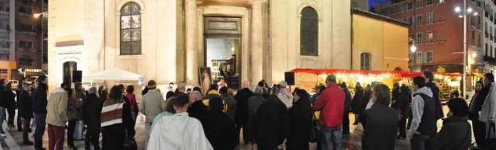 Manifestation à Toulon de soutien aux chrétiens persécutés