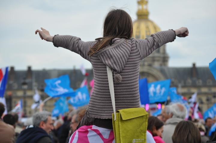 Manif Pour Tous aux Invalides à Paris